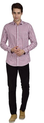 Zid Clothing Men's Checkered Casual Red Shirt