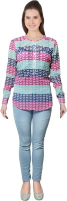 E Syrus Women's Graphic Print Casual Multicolor Shirt