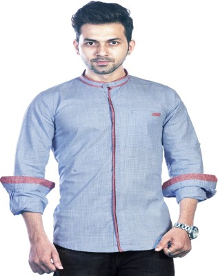 Bombay Casual Jeans Men's Checkered Casual Blue Shirt