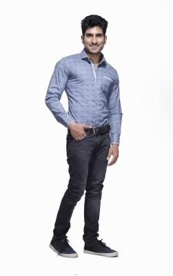 Jads Men's Printed Casual Grey, White Shirt