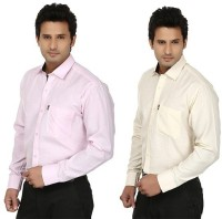 Fizzaro Formal Shirts (Men's) - Fizzaro Men's Solid Formal Multicolor Shirt(Pack of 2)