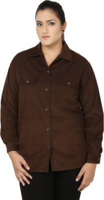 Eves Pret A Porter Women's Solid Casual Beige Shirt