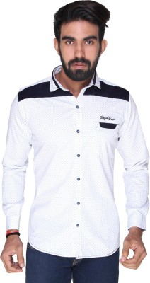 Royal Front Men's Solid Formal, Casual, Party, Festive, Wedding White Shirt