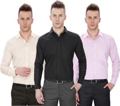 Regal Fit Plus Men's Solid Formal Multicolor Shirt