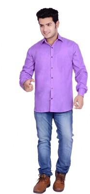 Buransh Men's Solid Formal Purple Shirt