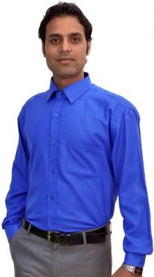AVS Polo Men's Solid Casual Blue Shirt