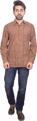 Shilpi Men's Printed Casual Red Shirt
