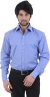 Burdy Formal Shirts (Men's) - Burdy Men's Solid Formal Blue Shirt