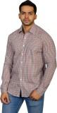Ruti Men's Checkered Formal Black Shirt