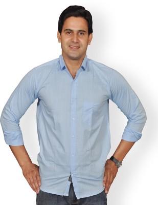 Mc-John Men's Solid Formal Light Blue Shirt