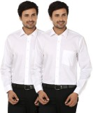 Black Bee Men's Solid Casual White Shirt...