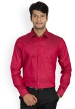 Protext Men's Solid Formal Maroon Shirt