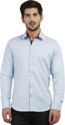 Marcello And Ferri Men's Solid Formal Light Blue Shirt