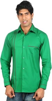 Nimya Men's Solid Casual Green Shirt