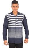 Binani Men's Striped Casual Multicolor S...