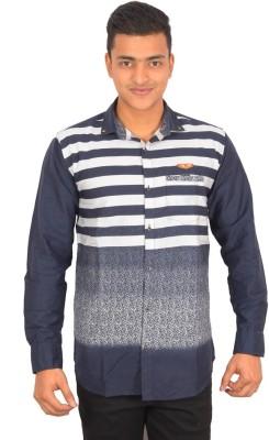 Binani Men,s Striped Casual Multicolor Shirt