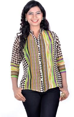 Vivaa Women's Printed Casual Multicolor Shirt