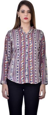 Tej Star Women's Printed Casual Multicolor Shirt