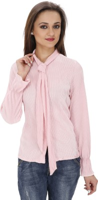 Svt Ada Collections Women's Solid Party Pink Shirt