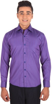 Henry Spark Men's Striped Casual Purple Shirt
