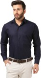 Mesh Men's Solid Formal Dark Blue Shirt