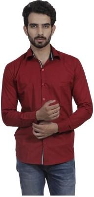 Mild Kleren Men's Solid Casual Maroon Shirt