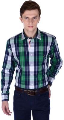 FRANK JEFFERSON Men's Checkered Formal Multicolor Shirt