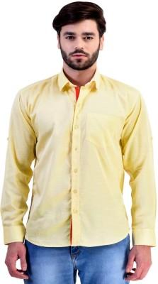 Zavlin Men,s Solid Casual Yellow Shirt