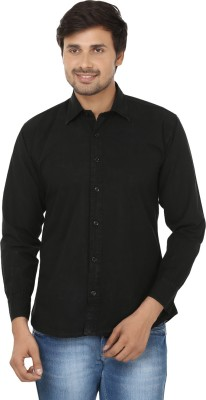E Spark Men's Solid Casual Black Shirt