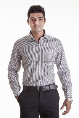 Sting Men,s Striped Formal Black Shirt