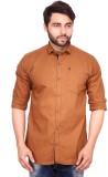 RKF Men's Embellished Casual Brown Shirt