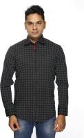 Albi Nyc Formal Shirts (Men's) - ALBI NYC Men's Printed Formal Black Shirt