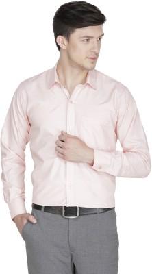 Asher Men's Solid Formal Orange Shirt