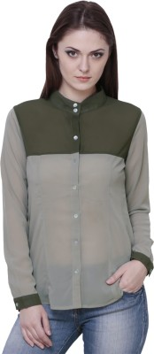 The Runner Women,s Solid Casual Brown Shirt