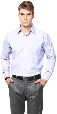 Shaftesbury London Men's Striped Casual Blue Shirt