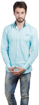 ZOLDY Men's Solid Formal Blue Shirt