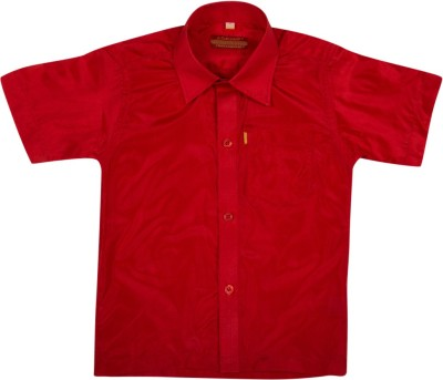 Thangamagan Baby Boy's Solid Casual Red Shirt