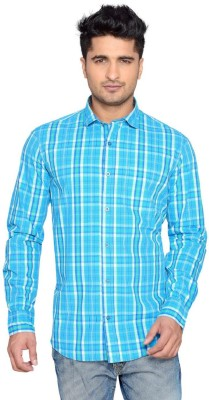Thinc Men's Checkered Casual Blue Shirt