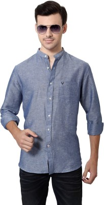 Allen Solly Men's Solid Casual Blue Shirt