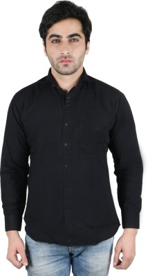 Being Friends Men's Solid Casual Black Shirt