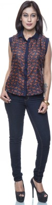 Colbrii Women,s Printed Casual Multicolor Shirt
