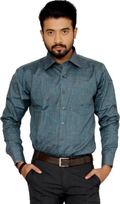 Indian Weller Men's Woven Formal Green Shirt