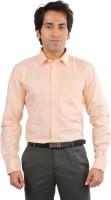 Desar Rana Formal Shirts (Men's) - Desar Rana Men's Striped Formal Orange, White Shirt