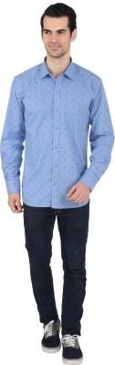 Springfield Men's Printed Casual Blue Shirt