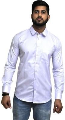 Cinchstore Men's Solid Formal Purple Shirt