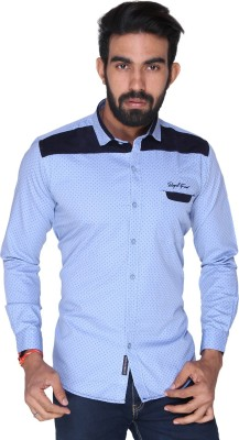 Royal Front Men's Solid Casual Light Blue Shirt