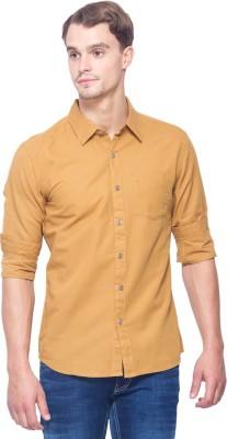 Shield & Sword Men,s Solid Casual Linen Brown Shirt