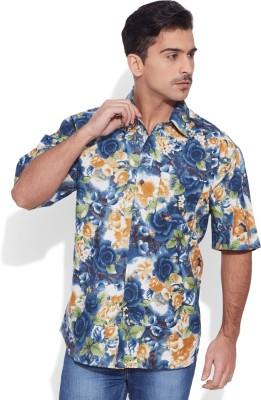 Very Me Men's Graphic Print Casual Blue Shirt