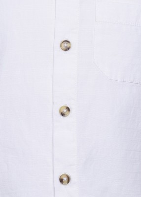 Tickles By Inmark Boy's Solid Casual White Shirt