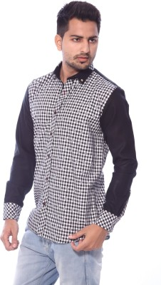 Roger Clothier Men's Striped Formal Multicolor Shirt